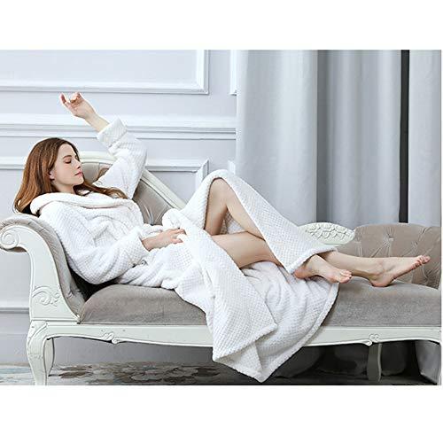 Morbidi Sleepwear Yr Accappatoi Corallo r Vestaglie Travel Pile White A V Da Camicie Signore Le In Con Risvolto Scollo Di Notte Home Per xvHPxrwq4