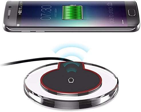 ワイヤレス充電パッド、10Wは、高速パッド、チー認定、iPhone 11月11日のPro / 11プロマックス/のXマックス/XR/XS/X / 8月8日プラス、10WギャラクシーS10 S9 S8 /注10注用7.5W充電,赤