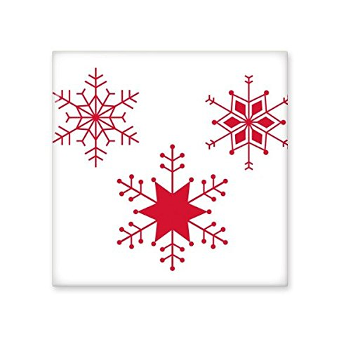 durable modeling Christmas Snowflake Red Festival Illustration Pattern Ceramic Bisque Tiles for Decorating Bathroom Decor Kitchen Ceramic Tiles Wall Tiles