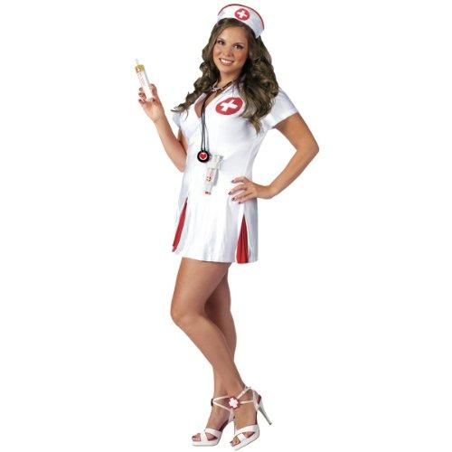 Fun World Women's Say Ahhh Sexy Nurse Costume, Multi, One (Say Ahhh Sexy Nurse Adult Costumes)