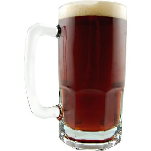 German Style Oktoberfest Extra Large Glass Beer Mug - 34 oz -