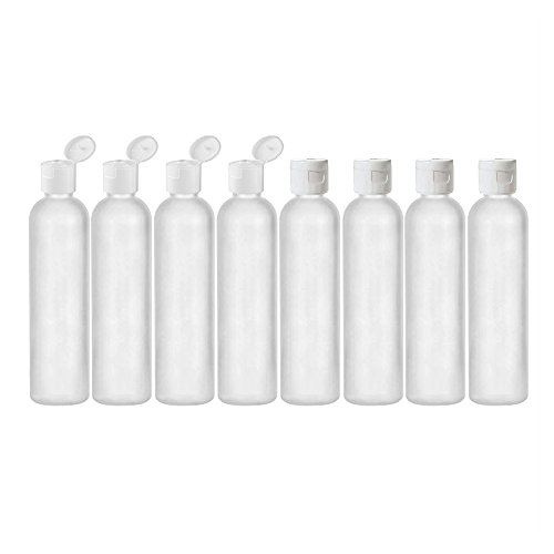 253d967064b9 MoYo Natural Labs 8 oz Travel Bottles, Empty Travel Containers with Flip  Caps, BPA Free HDPE Plastic Squeezable Toiletry/Cosmetic Bottles (8 pack,  ...