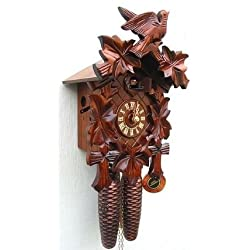 13.5 Traditional Cuckoo Clock with Antique Stain