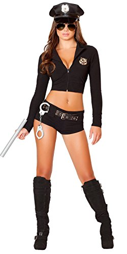 Sexy Hot Costumes (Honanda Women Girl Sexy Police Uniform Funny Cop office Costume for Cosplay Lingerie Halloween)