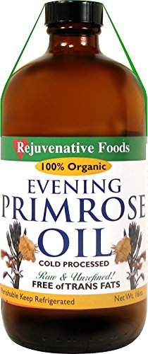 Extra-Virgin Raw Pure Fresh Evening Primrose Oil Certified Organic All-Low-Temp-Processed-Pressed-To-Order Nutritional In-AmberGlass Artisan Ayurvedic Culinary-Unrefined Rejuvenative Foods-4oz