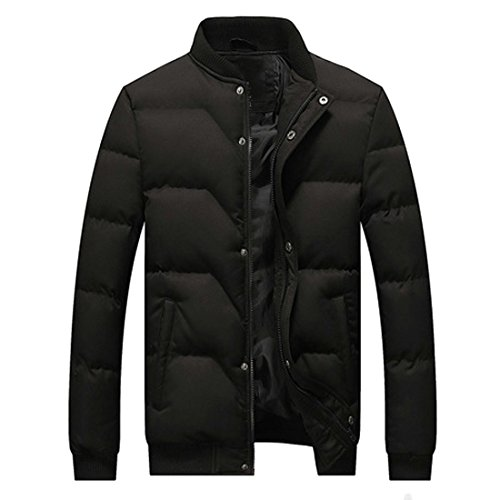 Quilted Short Solid Padded Black MU2M Down Thicken Jacket Puffer Coats Mens Warm nSxqaB