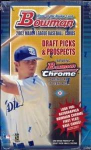 2002 Bowman Draft Picks & Prospects Baseball HOBBY Box - 24P ()