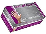Safe Guard Vinyl Powder Free Gloves 100 Gloves XL. Pack Of 3.