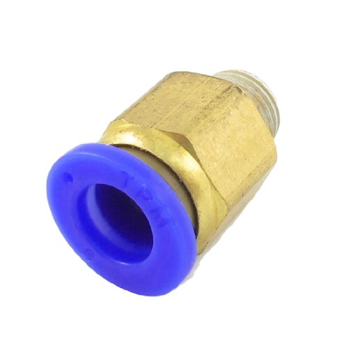 """UPC 700955077798, 8mm Round Hole 1/8"""" PT Thread Straight Push in Tube Pneumatic Quick Fitting"""