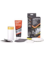 Jufisto Koplamp polijstset MEGA set voor polijsten/restauratie/renovatie van autolampen boormachine accuschroevendraaier opzetstuk/adapter lamp autokoplamp koplampen