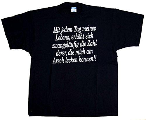 T-Shirt Mit jedem Tag meines Lebens Größe L Baumwolle Siebdruck Funshirt Biker
