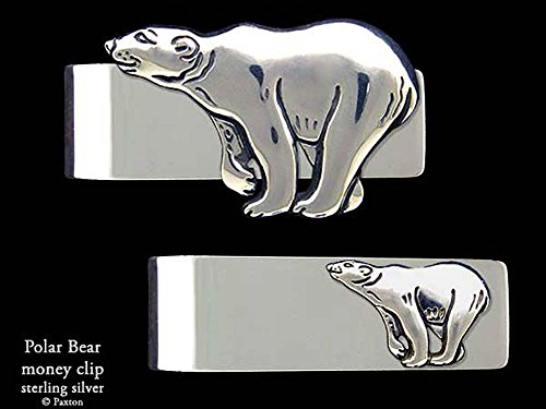 Polar Bear Money Clip in Solid Sterling Silver Hand Carved, Cast & Fabricated by Paxton by Paxton Jewelry