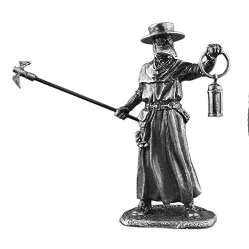 New Medieval Plague Doctor Civilian Man UnPainted Tin Metal 54mm Action Figures Toy Soldiers Size 1/32 Scale for Home Décor Accents Collectible Figurines ITEM -