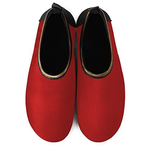 JOINFREE Damen Herren Kid Sommer Wasser Schuhe Barfuß Schuh Quick Dry Aqua Socken Yoga Gold Rot