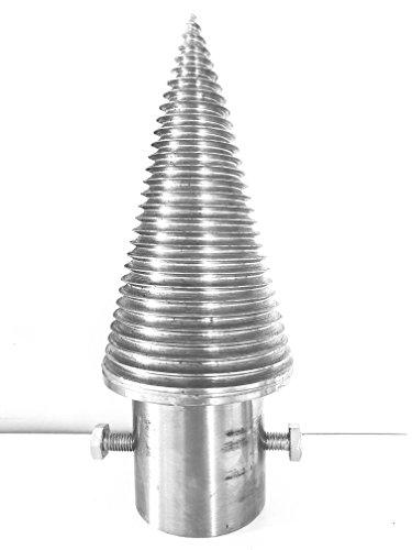 Free2buy Wood Splitter Screw Cone Steel D=100 mm Cleaver Left Thread