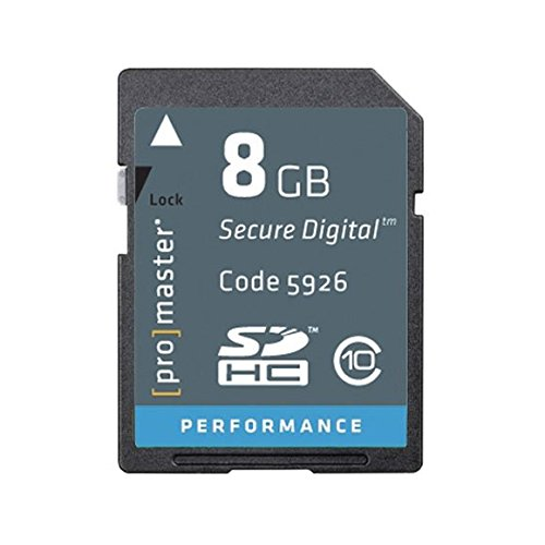 PRO Performance 8GB, SD/HC, Class 10-163x Memory Card by ProMaster
