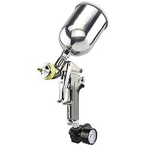 Neiko 31215A HVLP Gravity Feed Air Spray Gun   1.7mm Nozzle Size   600cc Aluminum Cup