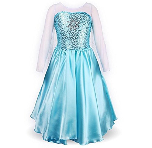 Elsa Blue Dress (DaHeng Little Girl's Princess Elsa Fancy Dress Costume)