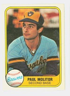 Autograph Paul Molitor (Paul Molitor AUTOGRAPH 1981 Fleer #515 Milwaukee Brewers)