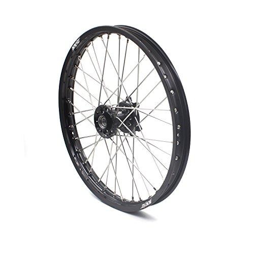 KKE HONDA MX CNC Wheel 21/19 CRF450R 02-12 CRF250R 04-13 Black Hub by KKE (Image #4)
