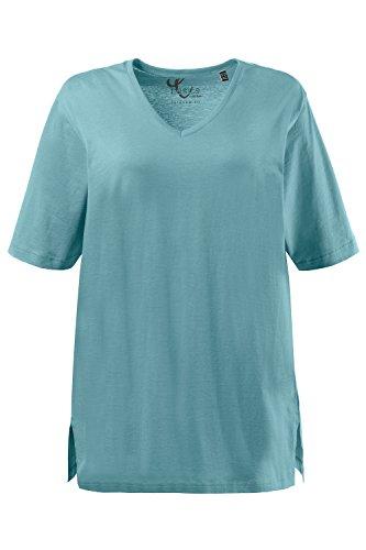 grigio ULLA POPKEN Verde V Donna Shirt T Ausschnitt WzU6qYwz