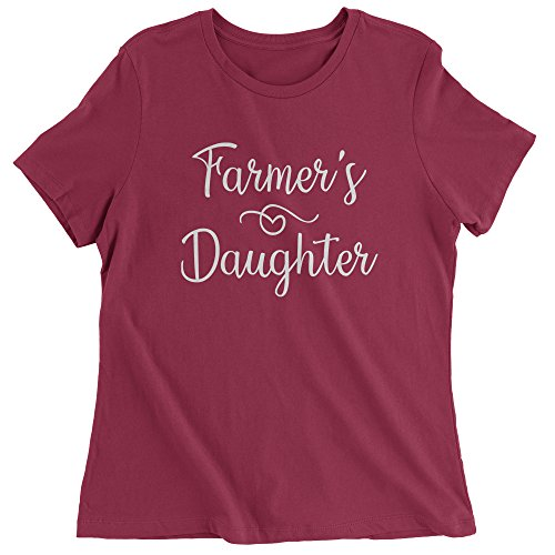 - Expression Tees Womens Farmer's Daughter T-Shirt Large Maroon