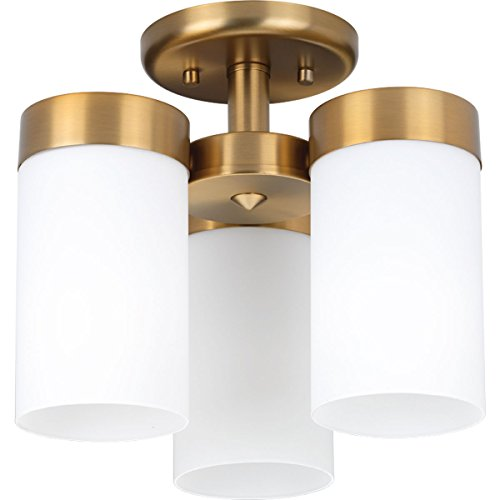 Progress Lighting P350040-109 Elevate Three-Light Flush Mount, Brushed Bronze