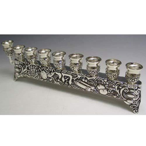 Chai Hanukkah Menorah for Candles or Oil