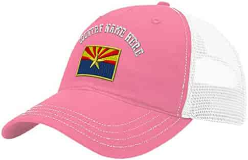126a2ea6d7733 Custom Trucker Hat Richardson Arizona State Flag Embroidery Country Name  Cotton