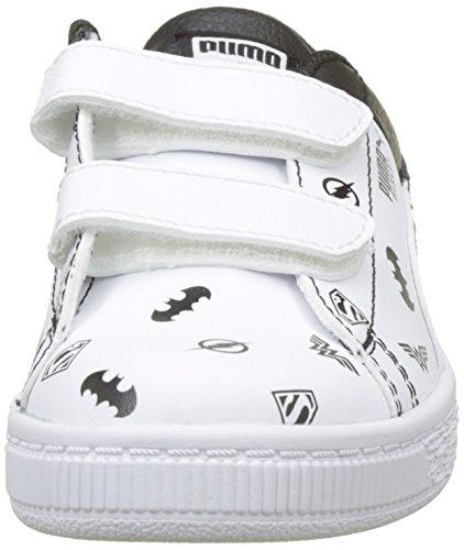 Puma JL Basket V PS, Zapatillas Unisex Niños Blanco (Puma White-puma White-puma Black)