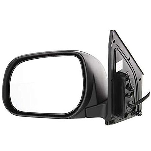a RAV-4 RAV4 (Limited and Sport only) Power Heated Smooth Black Paint to Match Manual Folding Rear View Mirror Left Driver Side (06 07 08) (Toyota Rav4 Manual Mirror)