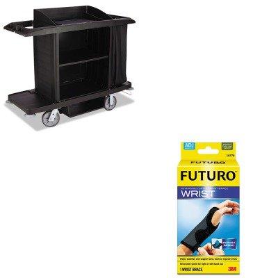 KITMMM10770ENRCPFG618900BLA - Value Kit - Rubbermaid Housekeeping Cart (RCPFG618900BLA) and Futuro Adjustable Reversible Splint Wrist Brace (MMM10770EN)