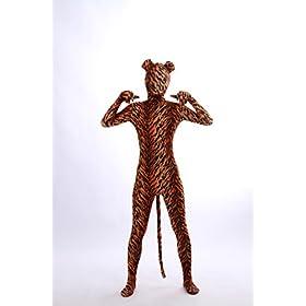 - 41HPUu72rQL - Nedal Lycra Tiger Bodysuit Halloween Cosplay Zentai Aanimal Costume For Kids