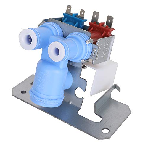 WR57X10051 Refrigerator Dual Solenoid Inlet Water Valve Part for GE/Hotpoint/RCA/General Electric/Kenmore 363 ()