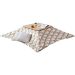 EMOOR Washable Kotatsu Futon Comforter Cover (Native-Orange), Rectangle-Type