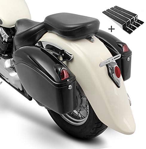Seitenkoffer Craftride Nebraska Paar Je 12l Haltesatz Für Honda Rebel Cmx 500 Shadow 750 Black Spirit Vt 125 600 750 C 1100 C2 Auto