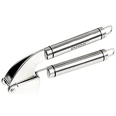 Innoo Tech Garlic Press Stainless Steel - the Garlic Cookbook eBook Included - Ginger Press