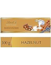 Lindt Swiss Classic Gold Hazelnut Milk Chocolate Bar, 300 Grams