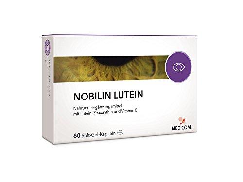 NOBILIN LUTEIN Kapseln 6mg + Zeaxanthin + Vitamin E - Augenvitamine zur Erhaltung der Sehkraft > auch als Multivitamin Präparat erhältlich NOBILIN VISIONVITAL