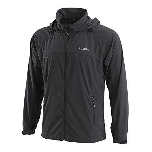 OEC Men's Sun Protection Clothing Thin Windbreaker Lightweight UPF50+ UV Protect Jacket Grey ()