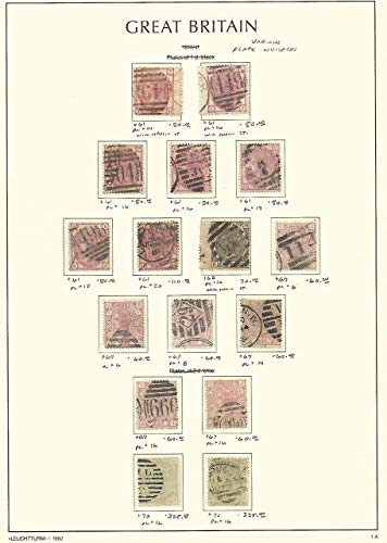 Great Britain Stamp Collection on Lighthouse Page 1873-80, 61//70 SCV $1490