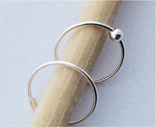 10mm Sterling captive eyebrow piercing