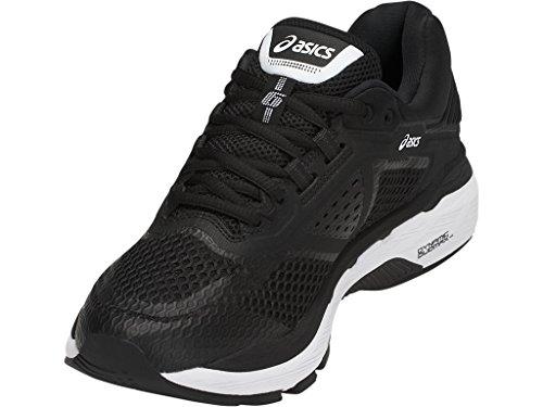 ASICS Women's GT-2000 6 Running Shoe, Black/White/Carbon, 5.5 M US by ASICS (Image #3)