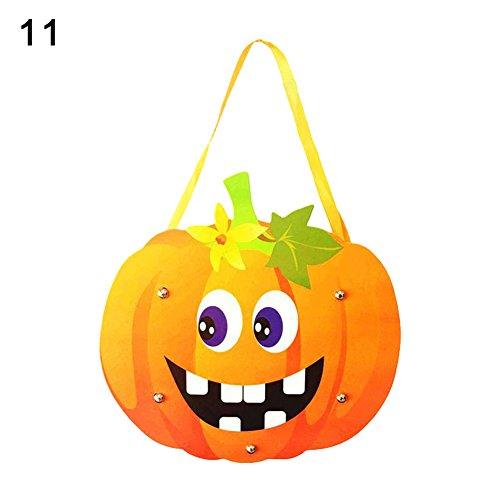 Kids Handwork DIY Halloween Cartoon Ghost Castle Pumpkin Gift Candy Bag Handbag 11 OneSize for $<!--$6.24-->