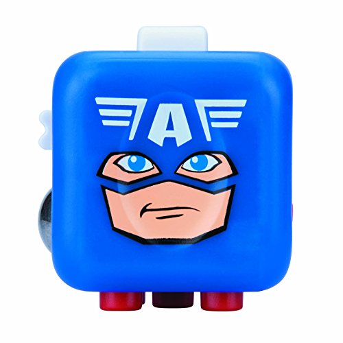 Antsy Labs Marvel Character Fidget Cube Captain America Design - Six Functional Sides w/ Anxiety Relief Stone ...