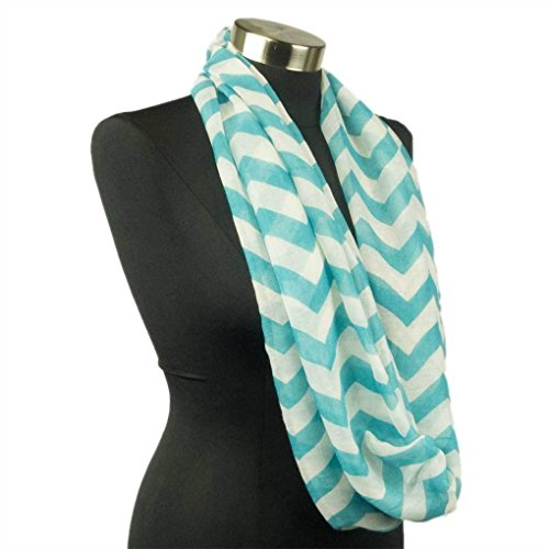 [Mememall Fashion Chevron Sheer Infinity Scarf Soft Warm Scarves Winter Lightweight Various Colors] (Deluxe Plush Cow Mascot Costumes)