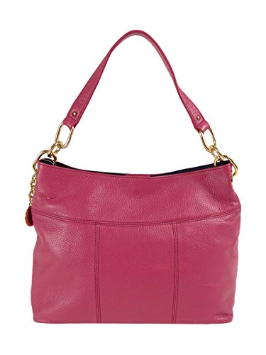 (Tommy Hilfiger Th Signature Leather Small Hobo Blush)