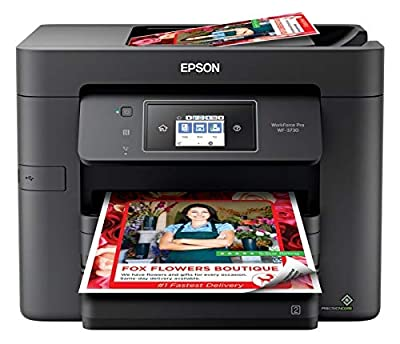 Epson Workforce Pro WF-3730 Wireless Color Inkjet All-in-One Printer, Copier, Scanner, Fax, C11CH04201