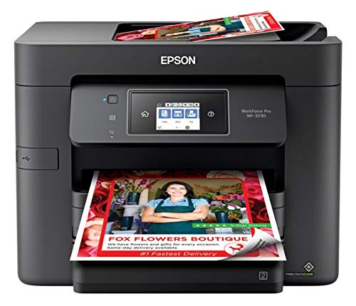 Epson Workforce Pro WF-3730 All-in-One Wireless Color Printer with Copier, Scanner, Fax and Wi-Fi Direct