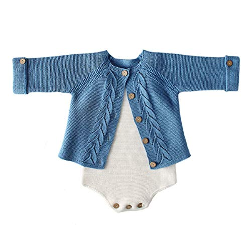 Baby boy Blue Sweater and Romper Set (3-6 Months) - Set Sweater Baby